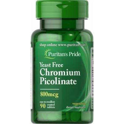 Puritan's Pride Chromium Picolinate 800 mcg Yeast Free-90 Tablets