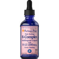 Puritan's Pride Vitamin B-Complex Sublingual Liquid with Vitamin B-12-2 fl oz Liquid