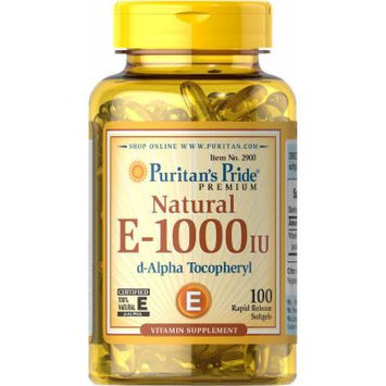 Puritan's Pride Vitamin E-100% 1000 IU Natural-100 Softgels
