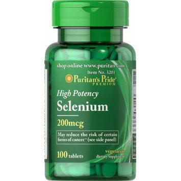 Puritan's Pride Selenium 200 mcg-100 Tablets