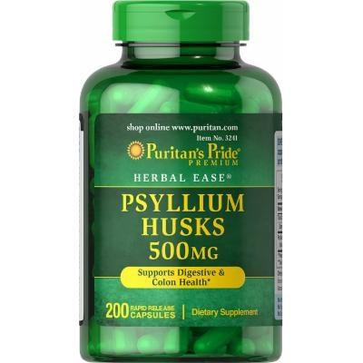 Puritan's Pride Psyllium Husks 500 mg-200 Capsules