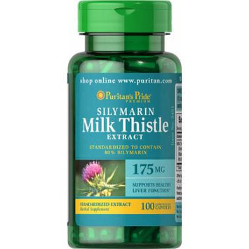 Puritan's Pride Milk Thistle Standardized 175 mg (Silymarin)-100 Capsules