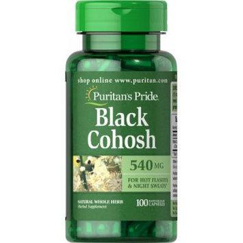 Puritan's Pride Black Cohosh 540 mg-100 Capsules