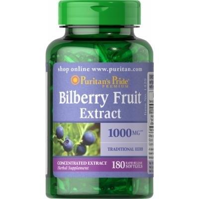 Puritan's Pride Bilberry 1000 mg-180 Softgels