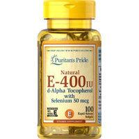 Puritan's Pride Vitamin E-with Selenium 400 IU Natural-100 Softgels
