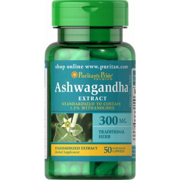 Puritan's Pride Ashwagandha Standardized Extract 300 mg-50 Capsules