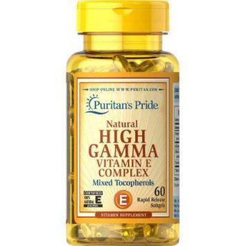 Puritan's Pride Vitamin E Complex High Gamma Natural-60 Softgels