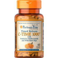 Puritan's Pride Vitamin C-1000 mg with Rose Hips Timed Release-60 Caplets