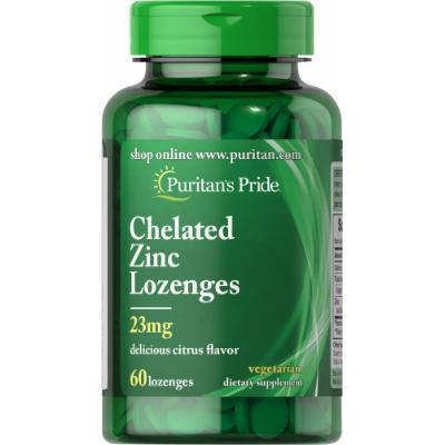 Puritan's Pride Zinc Chelate Lozenges Citrus Flavor-60 Chewables