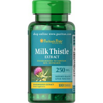 Puritan's Pride Milk Thistle Standardized 250 mg (Silymarin)-100 Capsules