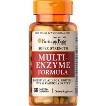 Puritan's Pride Super Strength Multi Enzyme-60 Caplets