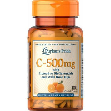 Puritan's Pride Vitamin C-500 mg with Bioflavonoids & Rose Hips-100 Caplets