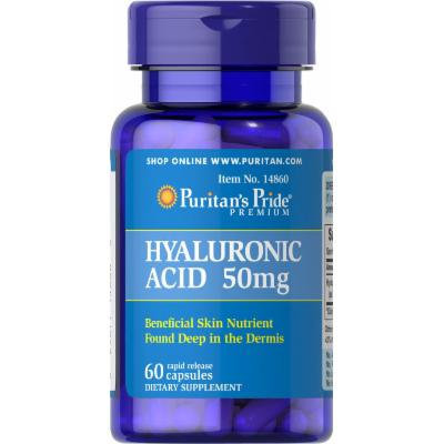 Puritan's Pride Hyaluronic Acid 50 mg-60 Capsules