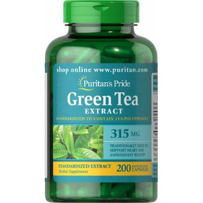 Puritan's Pride Green Tea Standardized Extract 315 mg-200 Capsules