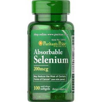 Puritan's Pride Absorbable Selenium 200 mcg-100 Softgels