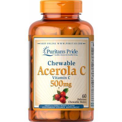 Puritan's Pride Chewable Acerola C 500 mg-60 Chewables