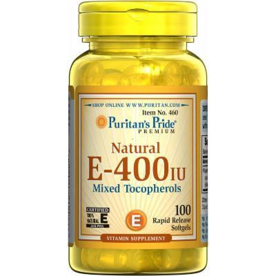 Puritan's Pride Vitamin E-400 iu Mixed Tocopherols Natural-100 Softgels