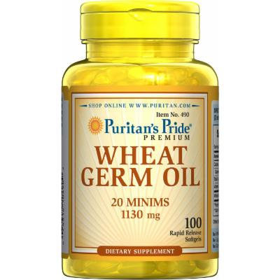 Puritan's Pride Wheat Germ Oil 1130 mg-100 Softgels