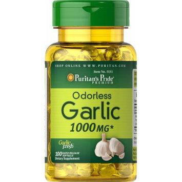 Puritan's Pride Odorless Garlic 1000 mg-100 Rapid Release Softgels
