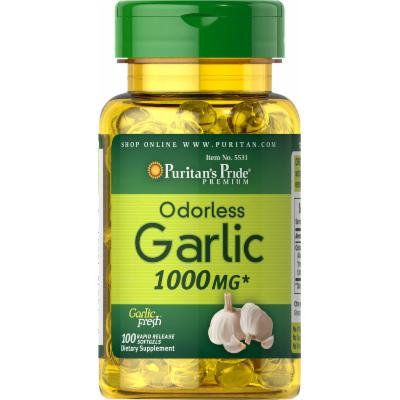 Puritan's Pride Odorless Garlic 1000 mg-100 Rapid Release Softgels