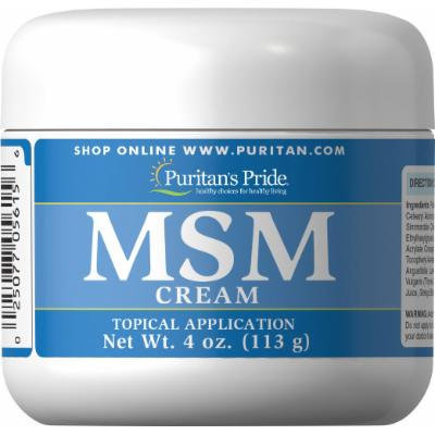 Puritan's Pride MSM Cream-4 oz Cream