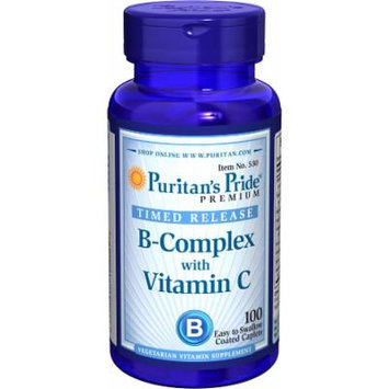 Puritan's Pride Vitamin B-Complex + Vitamin C Time Release-100 Caplets