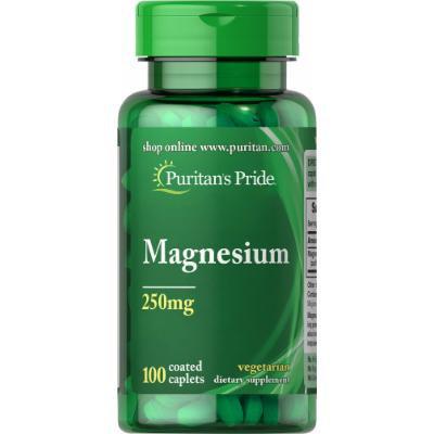 Puritan's Pride Magnesium 250 mg-100 Caplets