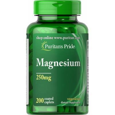 Puritan's Pride Magnesium 250 mg-200 Caplets