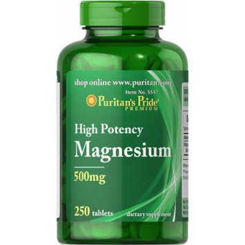 Puritan's Pride Magnesium 500 mg-250 Tablets