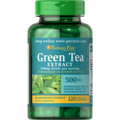 Puritan's Pride Green Tea Standardized Extract 500 mg-120 Capsules