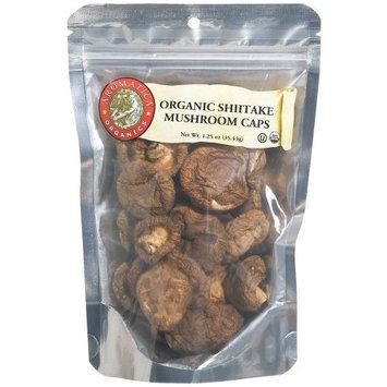 Aromatica Organics Shitake Mushroom Caps, 1.25-Ounce Bags (Pack of 6)
