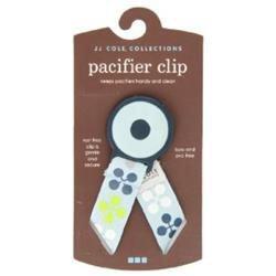 JJ Cole Pacifier Clip - Sky Clover