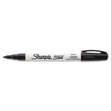Foohey Sharpie Permanent Paint Marker, Fine Point, Black