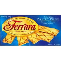 Ferrara Pastry Puffs, Apricot, 7-Ounce Boxes (Pack of 6)