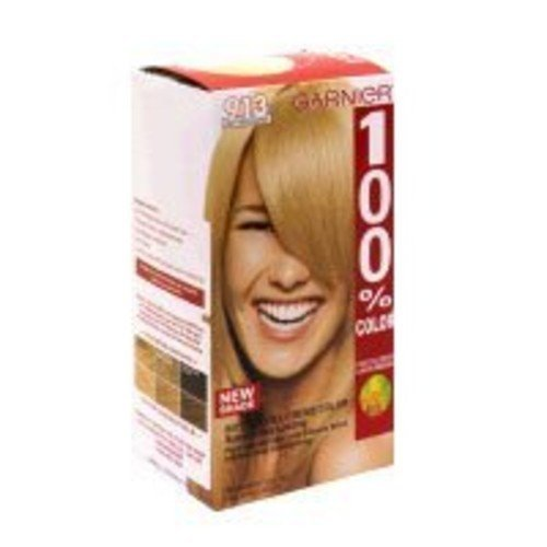 Garnier 100% Color Vitamin-Enriched Gel Crème, 913 Light Beige Blonde