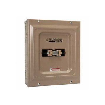 Reliance Controls TCA1006D Indoor Transfer Panel - 100A Utility and 60A Generator