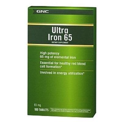 GNC Ultra Iron 65, Tablets, 100 ea