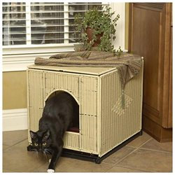 Mr. Herzher's Decorative Litter Pan Cover - Dark Brown - Jumbo