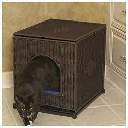 Mr. Herzher's Decorative Litter Pan Cover - Dark Brown - Large