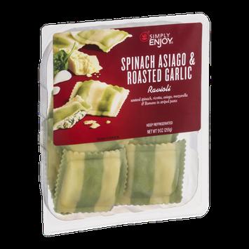 Simply Enjoy Spinach Asiago & Roasted Garlic Ravioli
