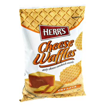 Herr's® Cheese Waffles Cheddar Sandwich Snacks