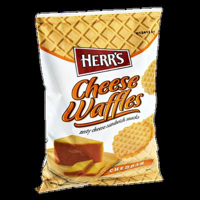 Herr's Cheese Waffles Cheddar Sandwich Snacks