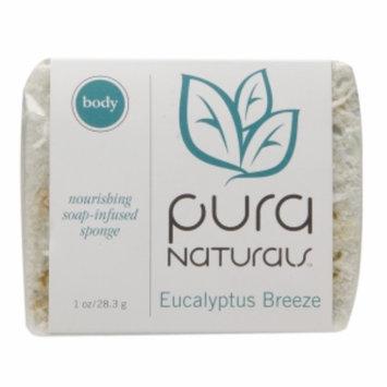 Pura Naturals Body Bar - Soap Infused Sponge, Eucalyptus Breeze, 1 ea