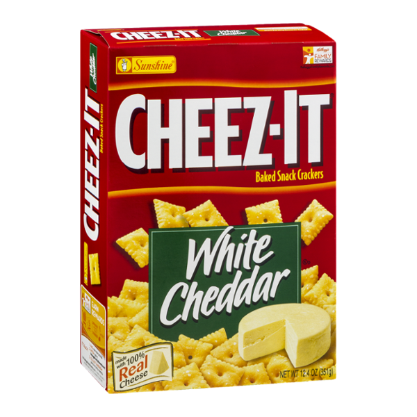 Sunshine Cheez-It Baked Snack Crackers White Cheddar