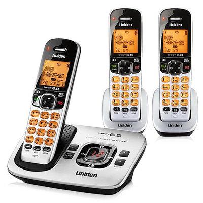 UNIDEN D1780-3 3-Handset Cordless Phone, Silver