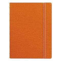 Filofax Notebook, College Rule, Orange Cover, 8 1/4 x 5 13/16, 112 Sheets/Pad