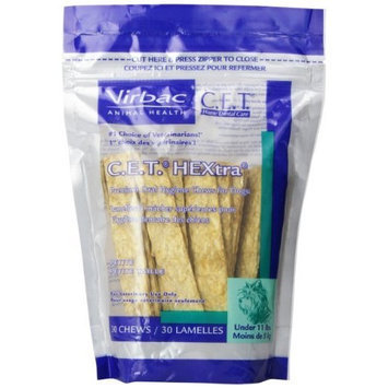 Virbac C.E.T. HEXtra Premium Oral Hygiene Chews for Petite/Small Dogs (under 11 Pounds)
