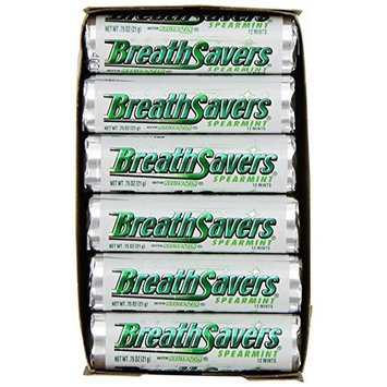 Breathsavers Breath Savers Mints, Spearmint, 0.75-Ounce Rolls (Pack of 24)