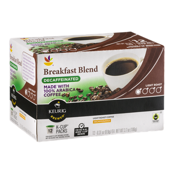 Ahold Breakfast Blend Decaffeinated 100% Arabica Coffee K-Cup Packs - 12 CT