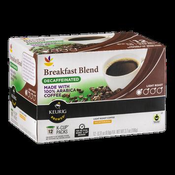 Ahold Breakfast Blend Decaffeinated 100% Arabica Coffee K-Cup Packs - 12 CT